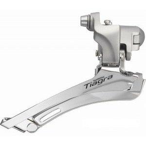 Переключатель передний велосипедный Shimano Tiagra 4600, 2x10 скоростей, 31.8 IFD4600BSMПереключатели скоростей на велосипед<br>Переключатель передний Tiagra, 4600, 2x10 скоростей, 31.8 с адаптером 28.6 <br> Конструкция с широким линком. Четкое и точное переключение.<br> 2x10 скоростей,<br> Материал корпуса: пластик; <br> Материал рамки переключателя: нержавеющая сталь<br> Тяга: универсальная<br> Хомут: 31.8 мм с адаптером 28.6<br> Угол нижних перьев: 66-69<br> Цвет серебристый<br> Производитель Shimano<br> Вес: 195 гр.<br>