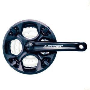 Система LASCO, 18-24 скорости, алюминий/сталь, 22/32/42, шатун 170мм, с защитой, черный, 6-180844