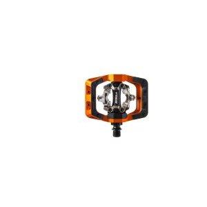 Педали велосипедные DMR V-Twin, контактные, алюминий, оранжевый, DMR-VTWIN-O