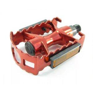 Педали МТВ алюминиевые HORST, литые, с отражателями, 332г/пара, 100х65х30мм, красный, 00-170363 как торговое место в мтв