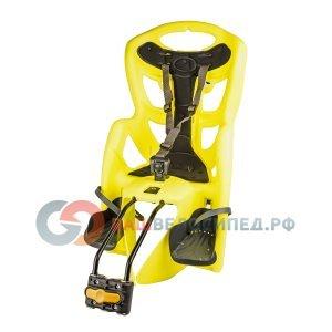 Детское велокресло TUV BELLELLI Pepe на подседельную трубу, до 7лет/22 кг., неоново-желтое, 5-259873
