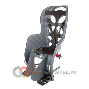 Детское велокресло на багажник NFUN CURIOSO, серое с черной вставкой, до 7лет/22кг, 01-100054Детское велокресло<br>Велокресло темно-серое, черная подкладка, крепится к багажнику, до 22кг, до 7 лет, регулируемая высота подножек, с трехточечными регулируемыми страховочными ремнями, отражатель на спинке, облегченное, быстросъемное, cертификат T?V (Италия)<br>
