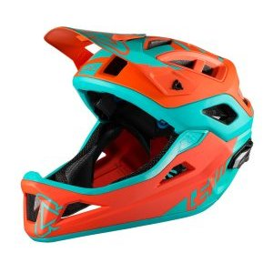 Велошлем Leatt DBX 3.0 Enduro Helmet, оранжево-синий 2018