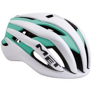 Велошлем Met Trenta, бело-зеленый 2018
