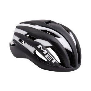 Велошлем Met Trenta, матовый черно-белый 2018