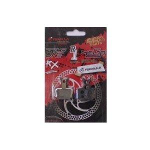 Колодки тормозные Formula Mega-The One-R1-RX Semi-MetalТормоза на велосипед<br>Оригинальные колодки Formula для тормозовMega, The One, R1, RX.Материал тормозной поверхности: металл+органика.Очень цепкие, мощные в торможении, и более износостойкие, чем металлические.Полуметаллический компаунд.Пружина в комплекте.Подходят для тормозов Formula, начиная с 2010 года                                                Общие характеристики:    Артикул:FD40173-10    Брэнды:Formula        Категория:Колодки<br>