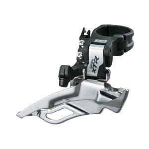 Перекл. передн. Shimano XTR FDM986 Double верх. хомут универс. тягаПереключатели скоростей на велосипед<br>Если вы ожидаете от оборудования такой же отдачи, как и от себя во время тренировок, то это то, что вам нужно. Новая линия XTR Race не просто подходит для гонок, она создана для них!  Ключевой элемент в сфере переднего переключения Shimano, в которой компания добилась огромного успеха, — новейший передний переключатель скоростей XTR с возможностью выбора варианта монтажа и легкодоступными креплениями продолжает лидировать на рынке.Технические характеристики переднего переключателя скоростей Shimano XTR:Номер модели: FD-M986Серия: XTRПодвижный механизм Нижняя рамкаСовместимость с кассетами: 10 скоростейМаксимальное количество зубьев: 14 зубьевКоличество зубьев внешней звездочки: 38–44 зубаЛиния цепи: 38 зубьев: 46,8 мм; 40–44 зуба: 48,8 мм Угол нижних перьев: 66–69Особенности переднего переключателя скоростей Shimano XTR:Подходит для всех двойных систем шатунов Shimano под 10-скоростные кассетыВерхний хомут, нижняя рамкаУниверсальное крепление стяжки хомутаТехнология DUAL SPIKEАлюминиевая внешняя пластина                                                                                        Общие характеристики:                                            Артикул:FDM986X6                        Брэнды:Shimano                        Год:2015                        Категория:Переключатели<br>
