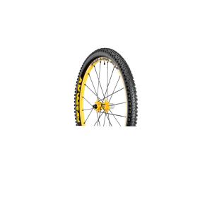 Колесо зад. MTB Mavic Deemax Ultimate15 12x135mmКолеса для велосипеда<br>Самое легкое и отзывчивое колесо для даунхилла из всех доступных. Разработанное совместно со спортсменами-участниками кубка мира, это первый комплект колес, созданный специально для даунхилла, весом менее 2 кг. Невероятно легкие обода и спицы с плоским профилем и двойным баттингом обеспечивают идеальный контроль и предельные скорости на пути к финишной черте.Вес (колесная пара): 1965 граммовПереднее колесо: 910 граммовТехнологии, примененные в конструкции комплекта колес Mavic Deemax Ultimate UST:ISM: Выточка специальных углублений между спицами для облегчения обода при равной жесткости – вот волшебная формула снижения инерции и высвобождения дополнительной энергии при подъеме в гору. Эксклюзивная запатентованная концепция Mavic (US 6 402 256).UST: Универсальный стандарт бескамерных покрышек. Коэффициент сцепления с дорогой и управляемость; Бескамерная система, готовая к использованию. Концепция UST позволяет увеличить коэффициент сцепления с дорогой, повысить управляемость и комфорт, снижая инерцию и вероятность прокола. - Без камер, без ободных лент; полностью герметизированный обод для удобного управления – возможна езда при пониженном давлении в покрышках – профиль обода UST имеет специальные выступы для надежного закрепления покрышки – совместим со всеми типами покрышек (UST, Tubeless Ready, камерные).ITS-4: система мнгновенной передачи ITS-4 4 лапки в барабане, работающие попарно, обеспечивают большую динамику при езде за счет очень быстрого переключения. Универсальность этого колеса делает его совместимым со всеми системами стабилизации рамы. - Улучшенная передача усилия: быстрое переключение, только 7,5° свободного хода между положениями – Жестче: цельная ось, диам. 17мм – 12мм, совместимая со всеми системами стабилизации рамы.Технология QRM: Qualitй de Roulements Mavic . Наиболее ответственный уровень нашего производственного процесса. Разумеется, эти картриджные подшипники снабжены дв