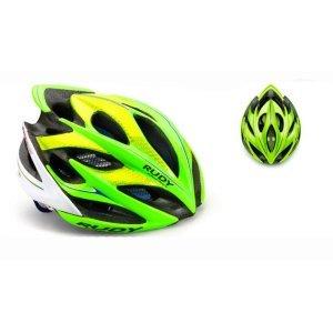 Велошлем Rudy Project WINDMAX CANNONDALE LIME/BLUE/WHITE LВелошлемы<br>ОписаниеКаска Rudy Project WINDMAX CANNONDALE LIME/BLUE/WHITELПрименениеШоссе, МТБ.Windmax - одино из лучших творений Rudy Project. Шлем одинаково хорошо подойдёт как профессионалам, так и любителям велоспорта. Он сочетает в себе повышенный уровень защиты с хорошей вентиляцией, комфортной посадкой, малым весом, современным дизайном.Надёжность защиты шлемовRudy Project значительно превышает европейские стандарты безопасности благодаря прочному каркасу, способному эффективно поглощать энергию удара и защищать от острого проникающего воздействия, а такжеза счёт идеальной посадки - результату многочисленных исследований формы головы с целью создания устойчивого и удобного для большинства спортсменов шлема.Windmax весит всего 220 г (в размере S-M) и имеет 21 вентиляционное отверстие, что особенно важно при интенсивной езде в жаркую погоду. Легендарная система фиксации Custom Fit для микро-ругулировки при помощи вращающегося диска позволит точно отрегулироватьусилие фиксации.В комплект входит козырёк для защиты глаз от солнечного света и мелких веток, комплект сменных подушечек.ОсобенностиРазмерS-M - 54-58 см(охват головы), вес около 220 гРазмерL - 59-62 см(охват головы), весоколо 240 гКоличество вентиляционных отверстий:21Внутренняя прокладка, 2 визора в комплектеСтандарты и сертификатыШлемы Rudy Project изготавливаются с использованием самых современных материалов и технологий и сертифицированы во всём мире в соответствии со строгими стандартами безопасности. Заявленные характеристики продуктов могут варьироваться в зависимости от стандартов и требований стран, в которых они продаются.•Европейский союз - соответствие директиве 89/686 ECC о средствах индивидуальной защиты и согласованном техническом стандарте EN 1078.• США / Канада / Другие - одобрены в соответствии с CPSC 12.03 потребительским стандартом безопасности для велосипедных шлемов для людей старше 5 лет.• Австралия / Новая Зеландия / Другие
