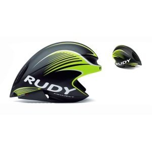 Велошлем Rudy Project WING57 BLACK/LIME FLUO MATT S-M