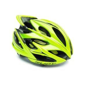 Велошлем Rudy Project WINDMAX YEL FLU/BLK SHINY LВелошлемы<br>ОписаниеКаска Rudy Project WINDMAX YEL FLU/BLK SHINYLПрименениеШоссе, МТБ.Windmax - одино из лучших творений Rudy Project. Шлем одинаково хорошо подойдёт как профессионалам, так и любителям велоспорта. Он сочетает в себе повышенный уровень защиты с хорошей вентиляцией, комфортной посадкой, малым весом, современным дизайном.Надёжность защиты шлемовRudy Project значительно превышает европейские стандарты безопасности благодаря прочному каркасу, способному эффективно поглощать энергию удара и защищать от острого проникающего воздействия, а такжеза счёт идеальной посадки - результату многочисленных исследований формы головы с целью создания устойчивого и удобного для большинства спортсменов шлема.Windmax весит всего 220 г (в размере S-M) и имеет 21 вентиляционное отверстие, что особенно важно при интенсивной езде в жаркую погоду. Легендарная система фиксации Custom Fit для микро-ругулировки при помощи вращающегося диска позволит точно отрегулироватьусилие фиксации.В комплект входит козырёк для защиты глаз от солнечного света и мелких веток, комплект сменных подушечек.ОсобенностиРазмерS-M - 54-58 см(охват головы), вес около 220 гРазмерL - 59-62 см(охват головы), весоколо 240 гКоличество вентиляционных отверстий:21Внутренняя прокладка, 2 визора в комплектеСтандарты и сертификатыШлемы Rudy Project изготавливаются с использованием самых современных материалов и технологий и сертифицированы во всём мире в соответствии со строгими стандартами безопасности. Заявленные характеристики продуктов могут варьироваться в зависимости от стандартов и требований стран, в которых они продаются.•Европейский союз - соответствие директиве 89/686 ECC о средствах индивидуальной защиты и согласованном техническом стандарте EN 1078.• США / Канада / Другие - одобрены в соответствии с CPSC 12.03 потребительским стандартом безопасности для велосипедных шлемов для людей старше 5 лет.• Австралия / Новая Зеландия / Другие - сертифицированы