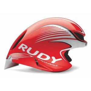 Велошлем Rudy Project WING57 RED FLUO/WHITE SHINY S-M