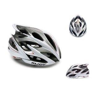 Велошлем Rudy Project WINDMAX WHITE/SILVER/RED SHINY S/MВелошлемы<br>ОписаниеКаска Rudy Project WINDMAX WHITE/SILVER/RED SHINY S/MПрименениеШоссе, МТБ.Windmax - одино из лучших творений Rudy Project. Шлем одинаково хорошо подойдёт как профессионалам, так и любителям велоспорта. Он сочетает в себе повышенный уровень защиты с хорошей вентиляцией, комфортной посадкой, малым весом, современным дизайном.Надёжность защиты шлемовRudy Project значительно превышает европейские стандарты безопасности благодаря прочному каркасу, способному эффективно поглощать энергию удара и защищать от острого проникающего воздействия, а такжеза счёт идеальной посадки - результату многочисленных исследований формы головы с целью создания устойчивого и удобного для большинства спортсменов шлема.Windmax весит всего 220 г (в размере S-M) и имеет 21 вентиляционное отверстие, что особенно важно при интенсивной езде в жаркую погоду. Легендарная система фиксации Custom Fit для микро-ругулировки при помощи вращающегося диска позволит точно отрегулироватьусилие фиксации.В комплект входит козырёк для защиты глаз от солнечного света и мелких веток, комплект сменных подушечек.ОсобенностиРазмерS-M - 54-58 см(охват головы), вес около 220 гРазмерL - 59-62 см(охват головы), весоколо 240 гКоличество вентиляционных отверстий:21Внутренняя прокладка, 2 визора в комплектеСтандарты и сертификатыШлемы Rudy Project изготавливаются с использованием самых современных материалов и технологий и сертифицированы во всём мире в соответствии со строгими стандартами безопасности. Заявленные характеристики продуктов могут варьироваться в зависимости от стандартов и требований стран, в которых они продаются.•Европейский союз - соответствие директиве 89/686 ECC о средствах индивидуальной защиты и согласованном техническом стандарте EN 1078.• США / Канада / Другие - одобрены в соответствии с CPSC 12.03 потребительским стандартом безопасности для велосипедных шлемов для людей старше 5 лет.• Австралия / Новая Зеландия / Другие - 