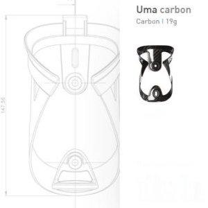 Флягодержатель Tacx Uma Carbon