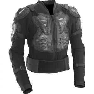 Защита панцирь Fox Titan Sport Jacket, черный 2018Защита торса<br>Защитная куртка с жёсткими пластиковыми накладками во всех критических местах. Основа изготовлена из эластичного сетчатого материала, а мягкие неопреновые вставки перфорированы для дополнительной вентиляции. Куртка застёгивается на молнию спереди и на липучку в области поясницы. Отлично подойдёт для ношения под джерси.<br><br><br><br>ОСОБЕННОСТИ<br><br><br><br>Двухкомпонентная защиты груди анатомической формы<br><br>Съёмная пластиковая защита спины<br><br>Основа изготовлена из дышащего эластичного материала<br><br>Удобная застёжка на молнии спереди<br><br>Куртка соответствует требованиям стандарта безопасности CE<br>