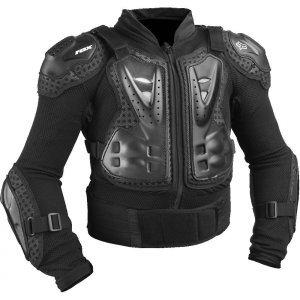 Защита панцирь подростковый Fox Titan Sport Youth Jacket, черный 2018Защита торса<br>Защитная куртка для детей и подростков с жёсткими пластиковыми накладками во всех критических местах. Основа изготовлена из эластичного сетчатого материала, а мягкие неопреновые вставки перфорированы для дополнительной вентиляции. Куртка застёгивается на молнию спереди и на липучку в области поясницы. Отлично подойдёт для ношения под джерси.<br><br><br><br>ОСОБЕННОСТИ<br><br><br><br>Разработана специально для детей и подростков<br><br>Двухкомпонентная защиты груди анатомической формы<br><br>Съёмная пластиковая защита спины<br><br>Основа изготовлена из дышащего эластичного материала<br><br>Удобная застёжка на молнии спереди<br><br>Куртка соответствует требованиям стандарта безопасности CE<br>