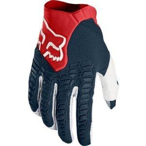 Велоперчатки Fox Pawtector Glove, сине-красный 2017Велоперчатки<br>Классические вело и мотокроссовые перчатки от Fox. Основные особенности данной модели – неопреновые и резиновые накладки на костяшках, удобная застёжка и ладонь, отделанная двойным слоем искусственной кожи Clarino. Словом, отличное сочетание эффективной защиты, внешнего вида и функцииональности.<br><br><br><br>ОСОБЕННОСТИ<br><br><br><br>Материал: текстиль, искусственная кожа<br><br>Ладонь отделана двойным слоем искусственной кожи Clarino<br><br>Силиконовые накладки для лучшего сцепления с рулём<br><br>Защитные накладки на костяшках из резины и неопрена<br><br>Удобная застёжка на крючке<br>
