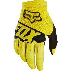 Велоперчатки Fox Dirtpaw Race Glove, желтый 2018Велоперчатки<br>Удобные высококачественные перчатки по отличной цене. Особенности обновлённой модели Dirtpaw - защитные накладки в нижней части ладони и на костяшках. Одним словом - оптимальный выбор для начинающих райдеров.<br><br>ОСОБЕННОСТИ<br><br>Материал: текстиль, искусственная кожа<br>Ладонь выполнена из тонкой искусственной кожи Clarino<br>Силиконовые накладки для лучшего сцепления с рулём<br>Защитные накладки на костяшках и в нижней части ладони<br>Вставки из сетчатого материала между пальцами для лучшей вентиляции<br>Удобная застёжка на крючке<br>