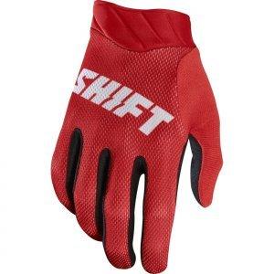 Велоперчатки Shift Black Air Glove, красный 2017Велоперчатки<br>Максимально лёгкие и дышащие перчатки без застёжек от Shift. Верх модели выполнен из дышащего текстиля, а ладонь отделана тонкой искусственной кожей Clarino. Силиконовые накладки на кончиках пальцев обеспечивают лучший контроль ручек тормоза и сцепления.<br><br><br><br>ОСОБЕННОСТИ<br><br><br><br>Материал: текстиль/искусственная кожа<br><br>Модель без застёжек<br><br>Силиконовые накладки на кончиках пальцев для лучшего сцепления<br><br>Оригинальная графика<br>