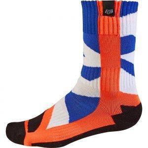 Носки подростковые Fox MX Creo Youth Sock, оранжевый 2017Велоноски<br>Мягкие и комфортные носки под вело и мотоботы, созданные специально для юных гонщиков. Модель выполнена из фирменного материала Coolmax, который быстро сохнет, хорошо отводит влагу и не натирает кожу. А анатомический крой и дополнительные утолщения в критических местах обеспечивают максимальный комфорт.<br><br><br><br>ОСОБЕННОСТИ<br><br><br><br>Материал: Coolmax<br><br>Анатомический крой<br><br>Дополнительные утолщения в критических местах<br>