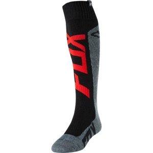 Носки Fox Preme Coolmax Thick Sock, красно-серый 2018Велоноски<br>Мягкие утолщённые носки под вело и мотоботы от Fox. Модель выполнена из фирменного материала Coolmax, который быстро сохнет, хорошо отводит влагу и не натирает кожу. А анатомический крой и дополнительные утолщения в критических местах обеспечивают максимальный комфорт.<br><br><br><br>ОСОБЕННОСТИ<br><br><br><br>Материал: Coolmax<br><br>Анатомический крой<br>