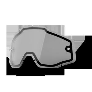 Линза 100% Enduro Dual Lens Smoke, 51005-007-02Велоочки<br>Двойные прозрачные линзы для наиболее суровых и непредсказуемых условий. Предотвращает запотевание при любых погодных условиях. Подходит для очков Racecraft &amp; Accuri. Пропускает часть светового спектра, хорошо подходит для ярких и контрастных условий внешнего освещения, сглаживая палитру, делая восприятие более мягким.<br><br>ОСОБЕННОСТИ:<br><br>Линза дымчатая двойная.<br>Антизапотевающее покрытие.<br>Универсальна для очков Racecraft &amp; Accuri<br>