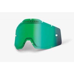 Линза 100% Racecraft/Accuri/Strata Vented Dual Pane Lens Anti-Fog Green Mirror, 51006-005-02Велоочки<br>Двойная вентилируемая линза 100% обеспечивает ей работу в любых погодых условиях и предотвращает запотевание в холодную или влажную погоду. Максимальная светопропускаемость из всех представленных линз, не искажает изображение и подходит для любых условий. Подходит для использования с масками Racecraft plus. Линза изготавливается с использованием поликарбоната и имеет предварительно выгнутую форму по маске для предотвращения искажений.<br>