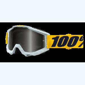 Велоочки 100% Accuri Athleto, Mirror Silver Lens, 50210-210-02Велоочки<br>Классическая вело и мотокроссовая маска лаконичного дизайна – Accuri стильно выглядит, хорошо вентилируется и обеспечивает отличный обзор. Благодаря силиконовой накладке, резинка будет надёжно держаться на шлеме. В комплекте – текстильный чехол.<br><br><br><br>ОСОБЕННОСТИ<br><br><br><br>Цвет оправы/резинки: белый/жёлтый<br><br>Цвет линзы: зеркальный серебристый<br><br>В комплекте – текстильный чехол<br>