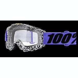 Велоочки 100% Accuri Brentwood / Clear Lens, 50200-211-02Велоочки<br>Классическая вело и мотокроссовая маска лаконичного дизайна – Accuri стильно выглядит, хорошо вентилируется и обеспечивает отличный обзор. Благодаря силиконовой накладке, резинка будет надёжно держаться на шлеме. В комплекте – текстильный чехол.<br><br><br><br>ОСОБЕННОСТИ<br><br><br><br>Цвет оправы/резинки: белый/фиолетовый<br><br>Цвет линзы: прозрачный<br><br>В комплекте – текстильный чехол<br>