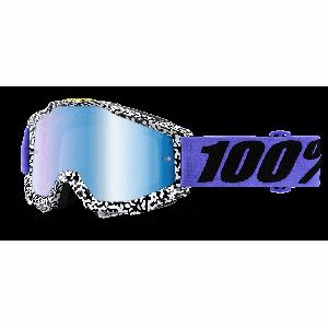 Велоочки 100% Accuri Brentwood / Mirror Blue Lens, 50210-211-02Велоочки<br>Классическая вело и мотокроссовая маска лаконичного дизайна – Accuri стильно выглядит, хорошо вентилируется и обеспечивает отличный обзор. Благодаря силиконовой накладке, резинка будет надёжно держаться на шлеме. В комплекте – текстильный чехол.<br><br><br><br>ОСОБЕННОСТИ<br><br><br><br>Цвет оправы/резинки: белый/фиолетовый<br><br>Цвет линзы: зеркальный голубой<br><br>В комплекте – текстильный чехол<br>