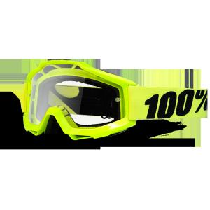 Велоочки 100% Accuri Fluo Yellow / Clear Lens, 50200-004-02Велоочки<br>В любых очках важна точка фокуса, в которой можно безукоризнено и быстро определить чёткие очертания объекта. Вело и мотокроссовые очки Accuri нацелены на создание именно такой правильной перспективы для зрения. На пути к такому правильному фокусному восприятию стоит только линза. которую можно вручную подобрать к очкам Accuri, исходя из своих потребностей. Accuri позволяет качественнее сосредоточиться на соревнованиях, а не думать о том, подведёт ли вас тот или иной элемент экипировки. 100% - это 100% гоночного духа в каждом изделии. Очки 100% Accuri Yellow с жёлтой рамкой и прозрачными линзами - это надёжная, удобная и гибкая основа, отличающаяся повышенной эргономикой и комфортом в длительном использовании. Непогода больше не станет помехой для вас и не повлияет на производительность. Сменные линзы к очкам удобно подбирать исходя из погодных условий.<br><br>ОСОБЕННОСТИ:<br><br>Прозрачные линзы.<br>Рамка Yellow<br>Простая конструкция, все линзы подходят к моделям Accuri и взаимозаменяемы.<br>Плотное облегание, изогнутая эргономичная форма рамки для повышенного комфорта.<br>Мягкая внутренняя накладка трёхслойного материала с влагоотталкивающими свойствами.<br>Возможность установки линз: зеркальные Anti-fog линзы + прозрачные, прозрачные Anti-fog.<br>Застёжка 45 мм шириной, покрытая силиконом для предотвращения скольжения.<br>Рамка сконструирована из гибкого и прочного уретана.<br>