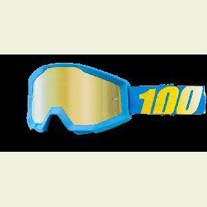 Велоочки 100% Strata Cyan / Mirror Gold Lens, 50410-012-02Велоочки<br>Strata - бюджетная модель с отнюдь не бюджетными характеристиками – в некотором смысле, это новый стандарт для масок за такую цену. Маска обеспечивает хороший обзор и оптимальную вентиляцию; поролоновая окантовка плотно прилегает к лицу, а резинка будет надёжно держаться на шлеме благодаря силиконовой накладке.<br><br><br><br>ОСОБЕННОСТИ<br><br><br><br>Цвет оправы/резинки: синий<br><br>Цвет линзы: синий<br><br>В комплекте - текстильный чехол<br>