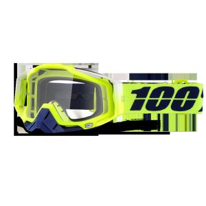 Велоочки 100% Racecraft Tanaka / Clear Lens, 50100-191-02Велоочки<br>Верхняя модель линейки 100%, созданная для самых требовательных гонщиков – максимально лёгкая и удобная, обеспечивающая отличный обзор. Благодаря минималистичному дизайну и тщательно продуманным деталям эта маска отлично выглядит и выполняет свои функции на все 100 процентов. В комплекте – защита переносицы, комплект отрывных лепестков и текстильный чехол.<br><br><br><br>ОСОБЕННОСТИ<br><br><br><br>Цвет оправы/резинки: желтый<br><br>Цвет линзы: прозрачный<br><br>В комплекте – защита переносицы, комплект отрывных лепестков и текстильный чехол<br>