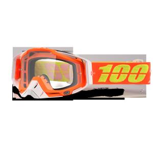 Велоочки 100% Racecraft Razmataz / Clear Lens, 50100-192-02Велоочки<br>Верхняя модель линейки 100%, созданная для самых требовательных гонщиков – максимально лёгкая и удобная, обеспечивающая отличный обзор. Благодаря минималистичному дизайну и тщательно продуманным деталям эта маска отлично выглядит и выполняет свои функции на все 100 процентов. В комплекте – защита переносицы, комплект отрывных лепестков и текстильный чехол.<br><br><br><br>ОСОБЕННОСТИ<br><br><br><br>Цвет оправы/резинки: оранжевый<br><br>Цвет линзы: прозрачный<br><br>В комплекте – защита переносицы, комплект отрывных лепестков и текстильный чехол<br>
