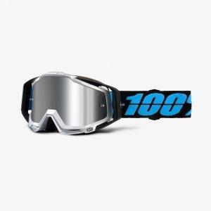 Велоочки 100% Racecraft Plus Daffed / Injected Silver Flash Mirror Lens, 50120-108-02 очки женские nike optics premier 8 0 matte crystal dark magnet black grey w silver flash lens