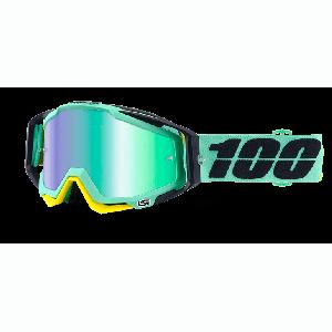 Велоочки 100% Racecraft Kloog / Mirror Green Lens, 50110-206-02Велоочки<br>Верхняя модель линейки 100%, созданная для самых требовательных гонщиков – максимально лёгкая и удобная, обеспечивающая отличный обзор. Благодаря минималистичному дизайну и тщательно продуманным деталям эта маска отлично выглядит и выполняет свои функции на все 100 процентов. В комплекте – защита переносицы, комплект отрывных лепестков и текстильный чехол.<br><br><br><br>ОСОБЕННОСТИ<br><br><br><br>Цвет оправы/резинки: голубой<br><br>Цвет линзы: зеркальный зелёный<br><br>В комплекте – защита переносицы, комплект отрывных лепестков и текстильный чехол<br>