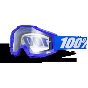 Велоочки 100% Accuri Reflex Blue / Clear Lens, 50200-002-02Велоочки<br>В любых очках важна точка фокуса, в которой можно безукоризнено и быстро определить чёткие очертания объекта. Вело и мотокроссовые очки Accuri нацелены на создание именно такой правильной перспективы для зрения. На пути к такому правильному фокусному восприятию стоит только линза. которую можно вручную подобрать к очкам Accuri, исходя из своих потребностей. Accuri позволяет качественнее сосредоточиться на соревнованиях, а не думать о том, подведёт ли вас тот или иной элемент экипировки. 100% - это 100% гоночного духа в каждом изделии. Очки 100% Accuri Reflex Blue с синей рамкой и прозрачными линзами - это надёжная, удобная и гибкая основа, отличающаяся повышенной эргономикой и комфортом в длительном использовании. Непогода больше не станет помехой для вас и не повлияет на производительность. Сменные линзы к очкам удобно подбирать исходя из погодных условий.<br><br>ОСОБЕННОСТИ:<br><br>Прозрачные линзы.<br>Рамка Reflex Blue<br>Простая конструкция, все линзы подходят к моделям Accuri и взаимозаменяемы.<br>Плотное облегание, изогнутая эргономичная форма рамки для повышенного комфорта.<br>Мягкая внутренняя накладка трёхслойного материала с влагоотталкивающими свойствами.<br>Возможность установки линз: зеркальные Anti-fog линзы + прозрачные, прозрачные Anti-fog.<br>Застёжка 45 мм шириной, покрытая силиконом для предотвращения скольжения.<br>Рамка сконструирована из гибкого и прочного уретана.<br>