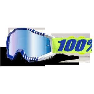 Велоочки 100% Accuri Sundance / Mirror Blue Lens, 50210-198-02Велоочки<br>Классическая вело и мотокроссовая маска лаконичного дизайна – Accuri стильно выглядит, хорошо вентилируется и обеспечивает отличный обзор. Благодаря силиконовой накладке, резинка будет надёжно держаться на шлеме. В комплекте – текстильный чехол.<br><br><br><br>ОСОБЕННОСТИ<br><br><br><br>Цвет оправы/резинки: синий/желтый<br><br>Цвет линзы: зеркальный голубой<br><br>В комплекте – текстильный чехол<br>