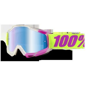 Велоочки 100% Accuri Tootaloo / Mirror Blue Lens, 50210-172-02Велоочки<br>Классическая вело и мотокроссовая маска лаконичного дизайна – Accuri стильно выглядит, хорошо вентилируется и обеспечивает отличный обзор. Благодаря силиконовой накладке, резинка будет надёжно держаться на шлеме. В комплекте – текстильный чехол.<br><br><br><br>ОСОБЕННОСТИ<br><br><br><br>Цвет оправы/резинки: фиолетовый/жёлтый<br><br>Цвет линзы: зеркальный голубой<br><br>В комплекте – текстильный чехол<br>