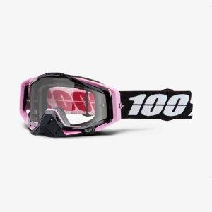Велоочки 100% Racecraft Floyd / Clear Lens, 50100-248-02Велоочки<br>Верхняя модель линейки 100%, созданная для самых требовательных гонщиков – максимально лёгкая и удобная, обеспечивающая отличный обзор. Благодаря минималистичному дизайну и тщательно продуманным деталям эта маска отлично выглядит и выполняет свои функции на все 100 процентов. В комплекте – защита переносицы, комплект отрывных лепестков и текстильный чехол.<br><br><br><br>ОСОБЕННОСТИ<br><br><br><br>Цвет оправы/резинки: розовый/чёрный<br><br>Цвет линзы: прозрачный<br><br>В комплекте – защита переносицы, комплект отрывных лепестков и текстильный чехол<br>