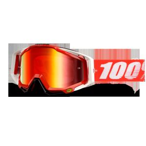 Велоочки 100% Racecraft Fire Red / Mirror Red Lens, 50110-003-02Велоочки<br>Верхняя модель линейки 100%, созданная для самых требовательных гонщиков – максимально лёгкая и удобная, обеспечивающая отличный обзор. Благодаря минималистичному дизайну и тщательно продуманным деталям эта маска отлично выглядит и выполняет свои функции на все 100 процентов. В комплекте – защита переносицы, зеркальная линза с покрытием антифог, сверхпрозрачная линза, комплект отрывных лепестков и текстильный чехол.<br><br><br><br>ОСОБЕННОСТИ<br><br><br><br>Цвет оправы/резинки: красный<br><br>Цвет линзы: оранжевый<br><br>В комплекте – защита переносицы, зеркальная линза с покрытием антифог, сверхпрозрачная линза, комплект отрывных лепестков и текстильный чехол<br>