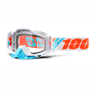 Велоочки 100% Racecraft Calculus Ice / Clear Lens, 50100-205-02Велоочки<br>Верхняя модель линейки 100%, созданная для самых требовательных гонщиков – максимально лёгкая и удобная, обеспечивающая отличный обзор. Благодаря минималистичному дизайну и тщательно продуманным деталям эта маска отлично выглядит и выполняет свои функции на все 100 процентов. В комплекте – защита переносицы, комплект отрывных лепестков и текстильный чехол.<br><br><br><br>ОСОБЕННОСТИ<br><br><br><br>Цвет оправы/резинки: белый<br><br>Цвет линзы: прозрачный<br><br>В комплекте – защита переносицы, комплект отрывных лепестков и текстильный чехол<br>