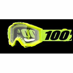 Велоочки подростковые 100% Accuri JR Fluo Yellow / Clear Lens, 50300-004-02Велоочки<br>Классическая маска, созданная специально для юных любителей мотокросса – Accuri стильно выглядит, хорошо вентилируется и обеспечивает отличный обзор. Благодаря силиконовой накладке, резинка будет надёжно держаться на шлеме. В комплекте – текстильный чехол.<br><br><br><br>ОСОБЕННОСТИ<br><br><br><br>Цвет оправы/резинки: голубой<br><br>Цвет линзы: прозрачный<br><br>В комплекте – текстильный чехол<br>
