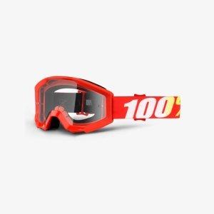 Велоочки подростковые 100% Strata JR Furnace / Clear Lens, 50500-232-02Велоочки<br>Strata JR- бюджетная модель с отнюдь не бюджетными характеристиками – в некотором смысле, это новый стандарт масок для юных гонщиков. Маска обеспечивает хороший обзор и оптимальную вентиляцию; поролоновая окантовка плотно прилегает к лицу, а резинка будет надёжно держаться на шлеме благодаря силиконовой накладке.<br><br><br><br>ОСОБЕННОСТИ<br><br><br><br>Прозрачная линза<br><br>В комплекте - текстильный чехол<br>