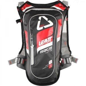 Рюкзак-гидропак Leatt GPX Race HF 2.0, красно-черный, 7016100120Велорюкзаки<br>Лёгкий и компактный рюкзак от Leatt, созданный специально для гонщиков эндуро – одна из самых удобных и функциональных моделей на рынке. Верх рюкзака выполнен из непромокаемого и устойчивого к истиранию материала, все швы проклеены, внутри вы найдёте гидратор с двухлитровым резервуаром, а снаружи - удобные стропы для крепления защиты шеи и шлема. Особая система подвески позволяет рюкзаку надёжно держаться на спине без использования поясного ремня – даже на техничных участках он не будет сползать и бить вас по голове.<br><br><br><br>ОСОБЕННОСТИ<br><br><br><br>Объём рюкзака: 1 л<br><br>Объём гидропака: 2 л<br><br>Фирменная система подвески позволяет рюкзаку надёжно держаться на спине без использования поясного ремня<br><br>Два выхода для трубки гидратора: над плечом и подмышкой (для тех, кто ездит в шлемах типа фулл-фейс)<br><br>Удобные стропы для крепления защиты шеи и шлема<br><br>Специальный чехол для резервуара с водой обеспечивает хорошую термоизоляцию – жидкость всегда останется холодной<br>