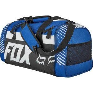 Велосумка Fox 180 Race Duffle Bag, синий, 19983-002-NSВелосумки<br>Удобная и вместительная сумка от Fox, которая отлично подойдёт как для велоэкипировки, так и для любых других вещей, которые вы решите взять с собой в дорогу. Основные особенности данной модели - большое основное отделение и два дополнительных отделения на молниях.<br><br><br><br>ОСОБЕННОСТИ<br><br><br><br>Большое основное отделение<br><br>Два дополнительных отделения на молниях<br><br>Оригинальная графика<br>