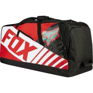 Велосумка Fox Podium 180 Sayak Gear Bag, красный, 19981-003-NSВелосумки<br>Объёмная сумка для велоэкипировки по отличной цене. В большом основном отделении достаточно места для всей экипировки, а для мотобоот предусмотрены специальные отделения с обеих сторон.<br><br><br><br>ОСОБЕННОСТИ<br><br><br><br>Материал: износостойкий полиэстер 600 D<br><br>Большое основное отделение<br><br>Объёмные отделения для велобот с обеих сторон<br><br>Широкий ремень для ношения на плече<br>