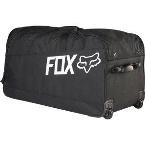 Велосумка Fox Shuttle 180 Gear Bag, черный, 14766-001-NSВелосумки<br>Объёмная сумка на колёсах, созданная специально для гонщиков, которые много путешествуют. В сумке достаточно места для всей велоэкипировки (включая шлем, боты, наколенники, панцирь и защиту шеи) и для личных вещей, которые можно распределить по маленьким карманам и отделениям. Словом, данная модель отлично подойдёт как для авиаперелётов, так и для транспортировки всего необходимого из гаража в машину.<br><br><br><br>ОСОБЕННОСТИ<br><br><br><br>Материал: износостойкий полиэстер 600 D<br><br>Удобная алюминиевая ручка с резиновой накладкой<br><br>Надёжные и долговечные полиуретановые колёса<br><br>Большое основное отделение<br><br>Вентилируемые отделения для велобот и шлема<br><br>Рассчитана на вес до 52кг<br><br>Размер: 89х41х46см<br>