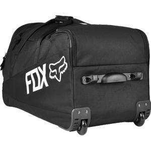 Велосумка Fox Track Side Gear Bag, черный, 14768-001-NSВелосумки<br>Вместительная сумка на колёсах, созданная специально для гонщиков, которые много путешествуют. По сути, данная сумка - это уменьшенная версия популярной модели Shuttle от Fox. В сумке достаточно места для велоэкипировки и личных вещей, которые можно распределить по маленьким карманам и отделениям. Словом, данная модель отлично подойдёт как для авиаперелётов, так и для транспортировки всего необходимого из гаража в машину.<br><br><br><br>ОСОБЕННОСТИ<br><br><br><br>Материал: износостойкий полиэстер 600 D<br><br>Удобная алюминиевая ручка с резиновой накладкой<br><br>Полиуретановые колёса увеличенного диаметра<br><br>Большое основное отделение и отделения для велобот<br>