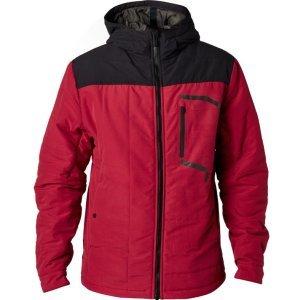 Велокуртка Fox Podium Jacket, темно-красный 2018Велокуртка<br>Классическая утеплённая куртка от Fox, которая надёжно защитит вас от дождя и холодного ветра. Верх модели выполнен из плотной синтетической ткани и обработан влагоотталкивающим составом C6 DWR, а основные её особенности – стильный винтажный принт и нагрудный карман на молнии.<br><br><br><br>ОСОБЕННОСТИ<br><br><br><br>Материал: 100% - полиэстер<br><br>Влагоотталкивающее покрытие C6 DWR<br><br>Стильный винтажный принт<br><br>Нагрудный карман на молнии<br>